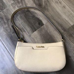 Calvin Klein Saffiano Leather Small Shoulder Bag